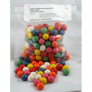 Sachet de 500g de boules de chewing gum