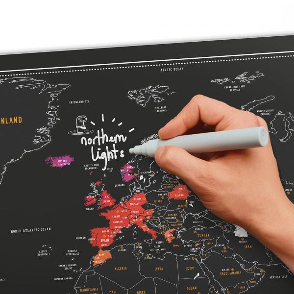 Carte du monde gratter chalk edition - Carte cadeaux maison du monde ...