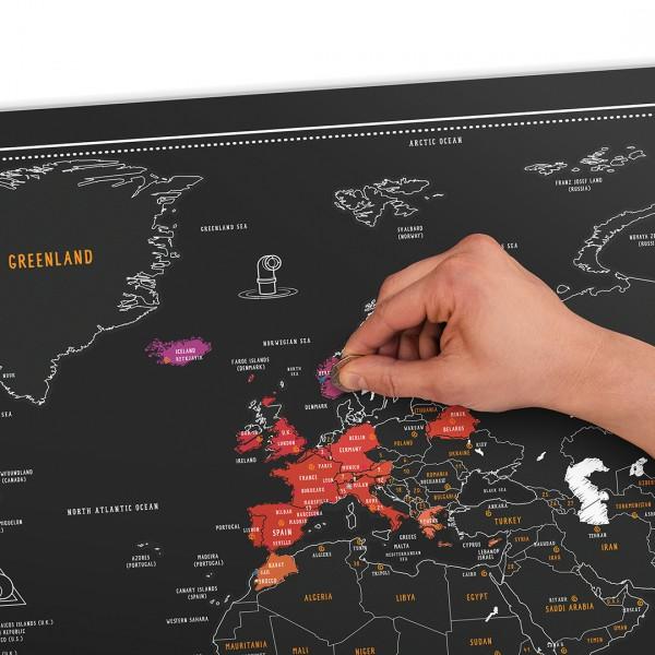 Carte du monde gratter chalk edition - Carte cadeau maison du monde ...