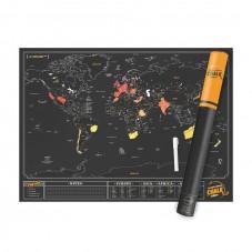 """Carte du monde à gratter """" chalk edition """""""