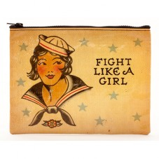 "Pochette zippée "" Fight like a girl """