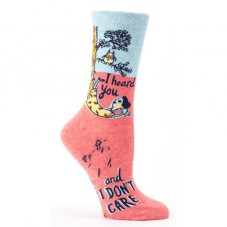 "Chaussettes femme "" I heard you, and i don't care """