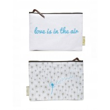 """Pochette zippée """" Love is in the air """""""
