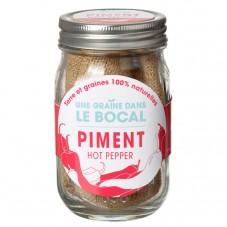 """Une graine dans le bocal """" Piment """""""