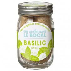 """Une graine dans le bocal """" Basilic """""""