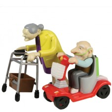 Figurines à remonter 'Racing granny & grandad'