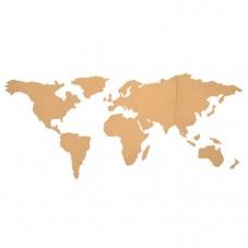 Carte du monde en liège à assembler