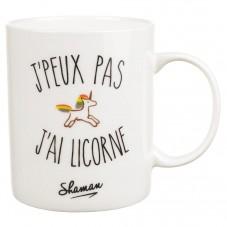 """Mug """" J'peux pas j'ai licorne """""""