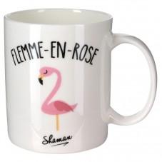 """Mug """" Flemme en rose """""""