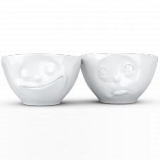 "Duo bols visages humeurs 200 ml "" Boudeur/Heureux """
