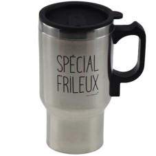 "Mug isotherme chauffant USB "" Spécial frileux """