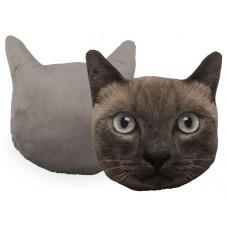 """Coussin """" Tête de chat """""""