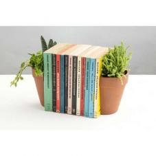 """Serre-livres """" Pot de fleurs """""""