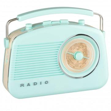 Radio rétro bluetooth bleu pastel