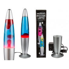 """Lampe fusée """" Lave bleue/rouge """""""