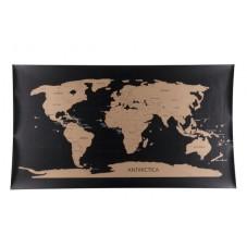 """Carte du monde a gratter """" Noire """""""