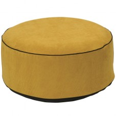 "Pouf gonflable velours "" Jaune moutarde """