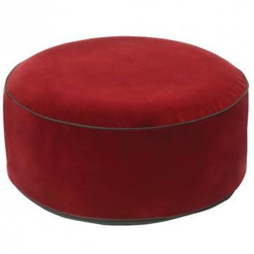 """Pouf gonflable velours """" Rouge bordeaux """""""