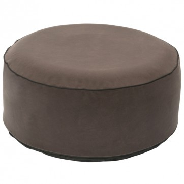 """Pouf gonflable velours """" Gris """""""