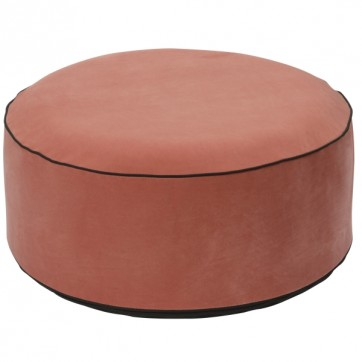"""Pouf gonflable velours """" Rose """""""