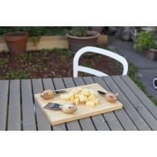 """Coffret à fromage """" Planche et couteaux souris """""""