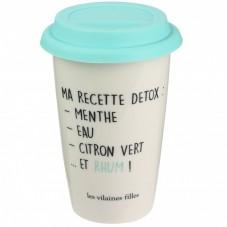 "Mug à emporter "" Recette détox Mojito """