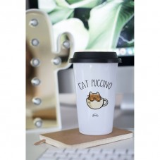 """Mug à emporter """" Cat puccino """""""