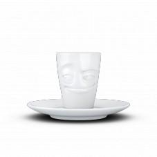 """Mug espresso """" Visage humeur espiègle """""""