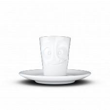 """Mug espresso """" Visage humeur gourmand """""""