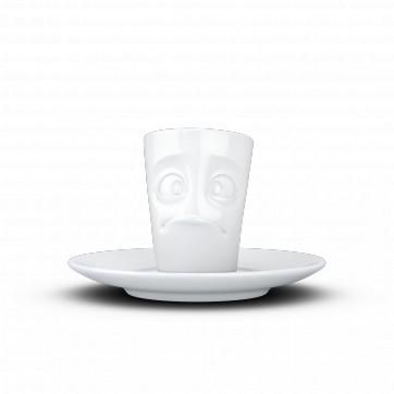 """Mug espresso """" Visage humeur perplexe """""""