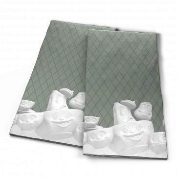 """Serviettes en papier """" Visages humeurs - farandole dansante """""""