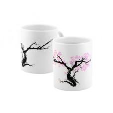 "Mug thermoréactif ""Fleurs d'abricotiers"""