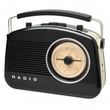Radio rétro bluetooth noire