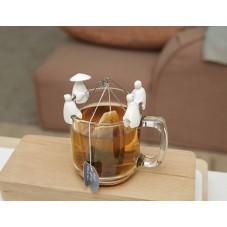 """Porte sachet de thé """" Pécheur asiatique """""""