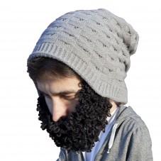 Bonnet avec barbe bouclée