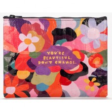 "Pochette zippée "" You are beautiful, don't change """
