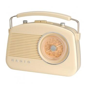 Radio rétro bluetooth crème